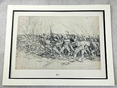 Antique Print Rare Hans Holbein Military Battle War Painting Limited Edition