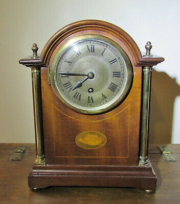 Rare Edwardian Mantel clock by Newbridge Works Bath England Circa 1910