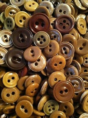 "⭐️  Lot Of 150+ Antique~Vintage China Buttons ""Shades Of Brown""   ⭐️"