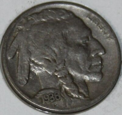 """1936-P 5C Buffalo Nickel, 17rr0110 """"Only 50 Cents for Shipping""""*3"""