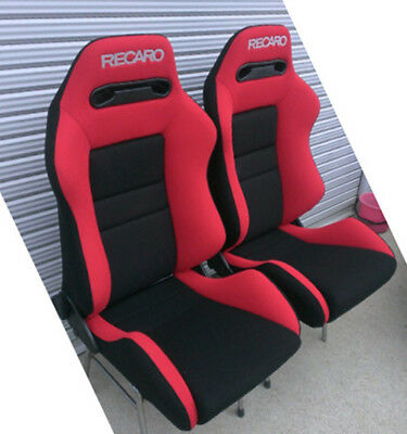 Seat Recaro Sr 3 Cloth Only Cover Red Leather New 2 Pc 450 00 Picclick