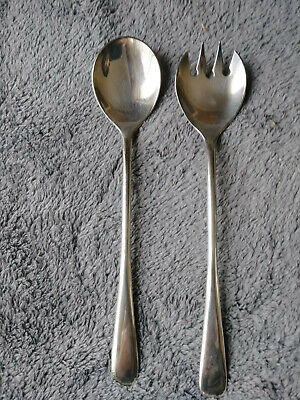 Vintage Silverplate Salad Fork & Spoon Serving Set From Italy