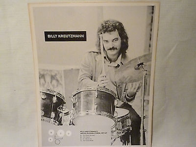 "Vintage Billy Kreutzmann - 9.5"" X 12"" Picture/photo/poster -  Grateful Dead"