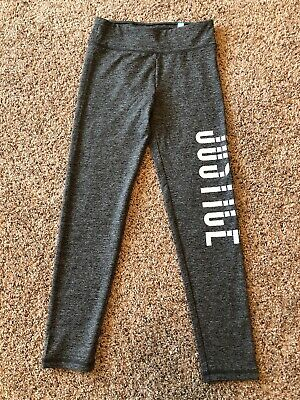 Justice Girls Grey Leggings Size 14 NWT