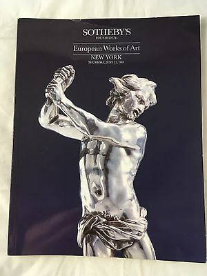 Sotheby's Brochure/ Catalogue: New York 1989 European Works Of Art