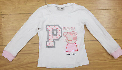 NEXT girls peppa pig pyjamas top age 4-5 years