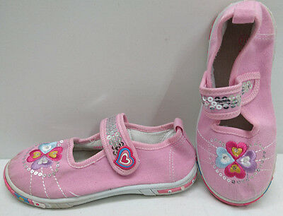 Walkright Girls Trainers Floral Shoes Size Uk 10 Eu 28