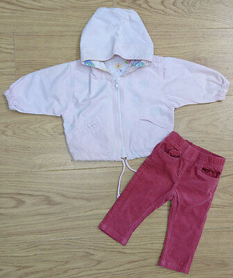 Monsoon Mothercare Baby Girls Bundle Age 0-3 Mth Jacket Cord Trouser Outfit New