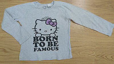 Zara Hello Kitty Girls Top Age 6-7 Years 122Cm Grey