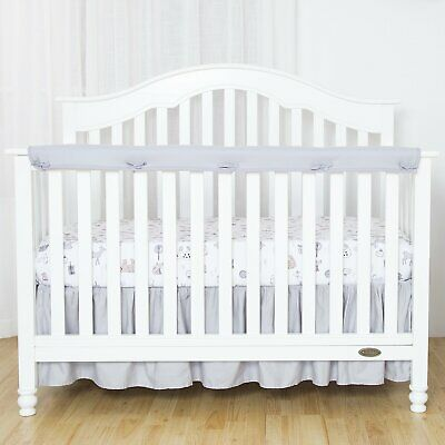 TILLYOU 1-Pack Padded Baby Crib Rail Cover Protector Teething Guard Wrap