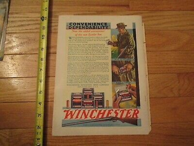 Oct 1930 Winchester  gun ammo magazine advertising full page ad