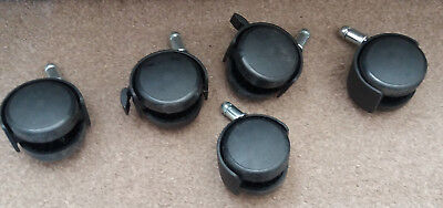 S/5 black casters (2 with brakes)