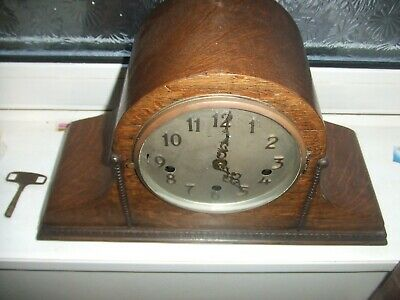 Vintage Napoleon Hat Style  8 Day Westminster Chiming Mantle Clock