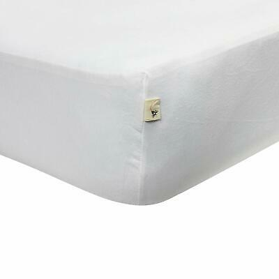 Burt's Bees Baby Fitted Crib Sheet, Solid Color White, 100% Organic Cotton