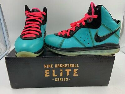 3fbff10f750 Nike Lebron James Viii 8 South Beach Pre Heat Size 10 417098-401 Og Rare