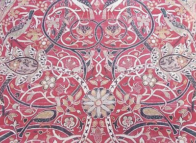 William Morris Curtain Fabric 'BULLERSWOOD' 3.5 METRES Paprika/Gold - Linen Mix