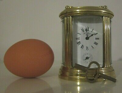 Vintage French  L Epee Bell Strike Carriage Clock St James London miniature