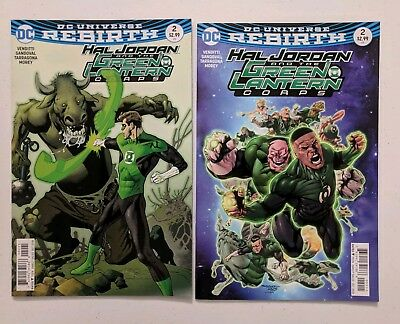 Hal Jordan and the Green Lantern Corps # 2 A + B covers  DC comics Rebirth  2016