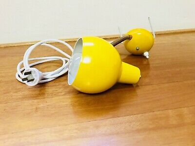 Vintage Retro Clip On Alloy Light Lamp Yellow
