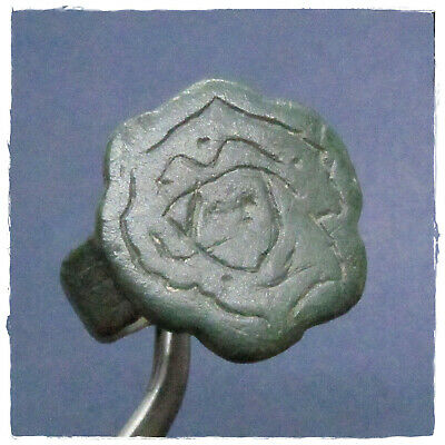 **  MEDUSA  ** ancient BRONZE  Roman ring !!!EXCELLENT , RARE!!!