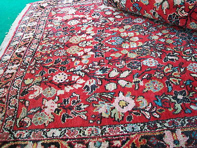 "Semi-antique Vintage handknotted rug Persian oriental Wool 41.5"" x 63"" 3.5 x 5"