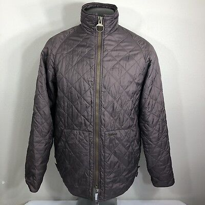 Barbour Jacket Quilted Lightweight Made England Men's Small Coat Full Zip Ski