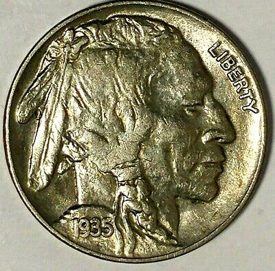 "1935-P 5C Buffalo Nickel, 19ott0126 AU ""Only 50 Cents for Shipping""*"