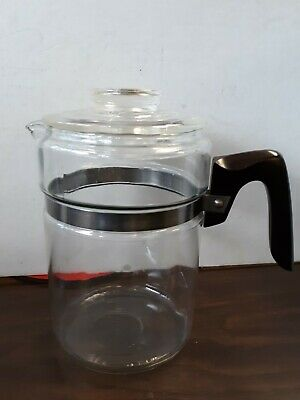 Vintage Pyrex Glass Stovetop Percolator Coffee Pot 6 Cup 7826-B Replacement