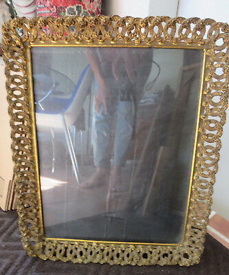 VERY LARGE ANTIQUE FRENCH GILT BRONZE PHOTO FRAME EMPIRE STYLE 19th CENTURY