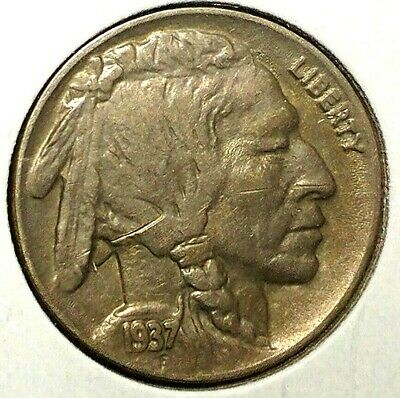 "1937-P 5C Buffalo Nickel, 18rr1123 UNC ""Only 50 Cents for Shipping""*"