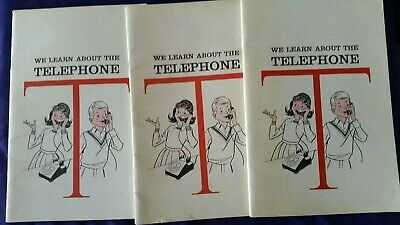 LOT(3) VINTAGE TELEPHONE & TELEGRAPH CO.  HOW WE USE IT BOOK-BOOKLET BELL 1964pg
