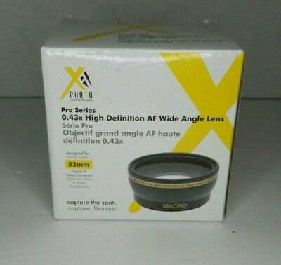 Xit Photo Pro Series 52mm .43x HD AF Wide Angle Lens