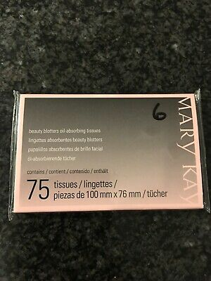 Authentic Marykay Oil Absorbing Tiissue Blotters 75 Count Brand New