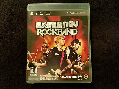 Green Day: Rock Band (Sony PlayStation 3, 2010) Complete ps3