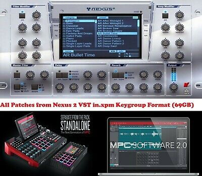 Nexus 2 Expansion Keygroup Instruments for Akai MPC X,  MPC LIVE or MPC Software