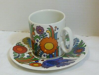Villeroy & Boch ACAPULCO (Blue Mark) Coffee Mug & Saucer Set