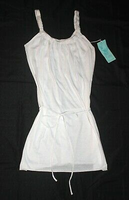 c56f379cfdafb Eco Swim By Aqua Green Women's White Beach Cover-Up~ Size S~ Nwt