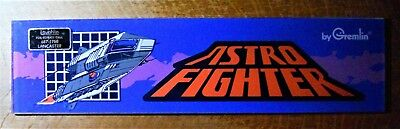 ASTRO FIGHTER video game marquee / header coin-op