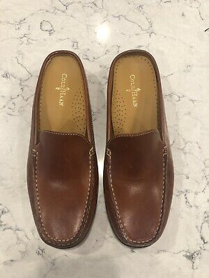 bc32e58a1d441 COLE HAAN COUNTRY Women's Brown Leather Slide Loafers Flat Mules Size 7 B