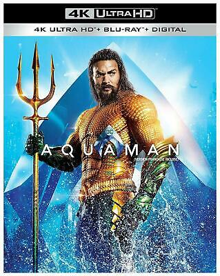 Aquaman (Bilingual) - 4K UHD Ultra HD + Blu-ray + Digital (2018) BRAND NEW