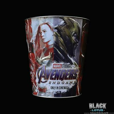 AMC Marvel Avengers Endgame Popcorn Tin Bucket Thanos Hulk Thor Iron Man Rocket