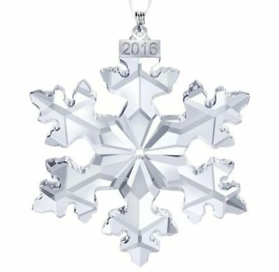 SWAROVSKI CRYSTAL- 2016 large .ANNUAL ORNAMENT - NEW IN BOX WITH COA