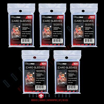 500 CT PENNY SLEEVES (100 PACK X 5) ULTRA PRO BRAND fits Regular Toploaders