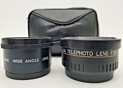 Wide Angle & Telephoto Lenses for Hi-Matic AF Camera with Case IMADO