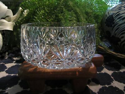 Gorgeous Vintage  Extremely Heavy Round Highly Decorative Crystal Bowl