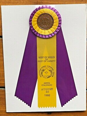 VINTAGE DOG SHOW AKC Rosettes and Flat ribbons  Awards Ribbons