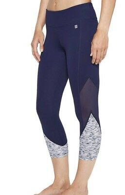 New Ivanka Trump Athleisure Leggings Waistband Capris Pants Athletic Xs Blue