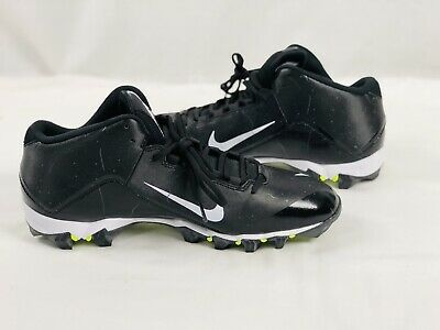 separation shoes eb55b eb30d Nike Men s Alpha Fast Flex Black   White Size 13 Football Cleats NEW