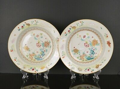 A Top Quality Pair Of Chinese 18Th Century Dishes With Birds Af
