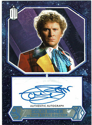 Doctor Who 2015 Autograph Colin Baker as The Sixth Doctor Blue Parallel #50/50